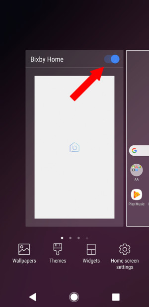 как отключить Bixby Home Galaxy S9