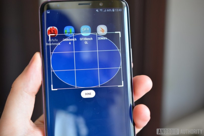 how to take screenshot galaxy s9 plus using smart select oval