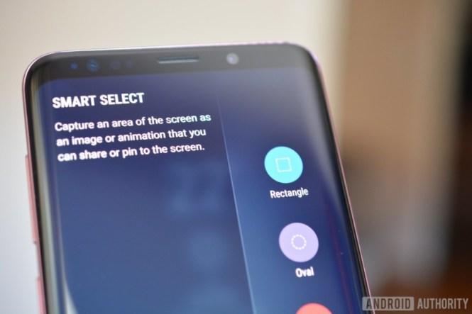 how to take screenshot galaxy s9 plus using smart select