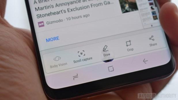 how to take screenshot galaxy s9 plus smart scroll