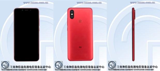 Xiaomi Mi 6X TENAA listing