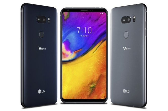 Renders of the LG V35 ThinQ.