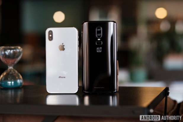 OnePlus 6 vs iPhone X rear images