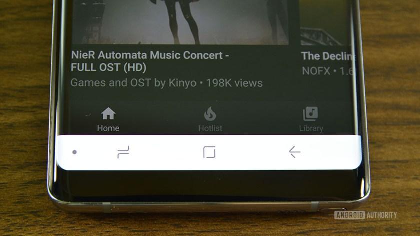 YouTube Music hands on - nav bar