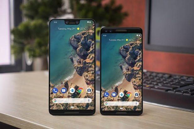 Mock-ups of what the Google Pixel 3 notch could look like.