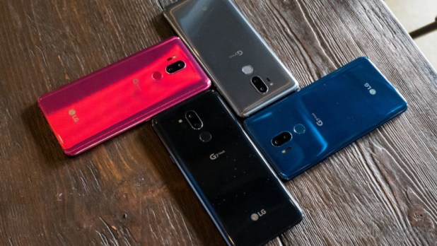 LG G7 ThinQ color combinations.