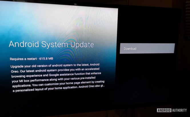 Android Oreo update for Xiaomi Mi Box.