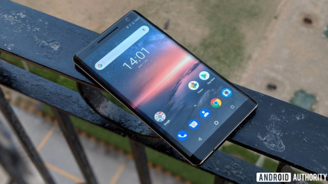 Nokia 8 Sirocco review - Android One home screen