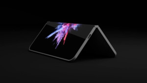 An unofficial render of a smartphone/laptop hybrid from Microsoft running on the Qualcomm Snapdragon 850.