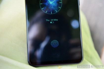 The fingerprint sensor icon on Vivo X21 ud