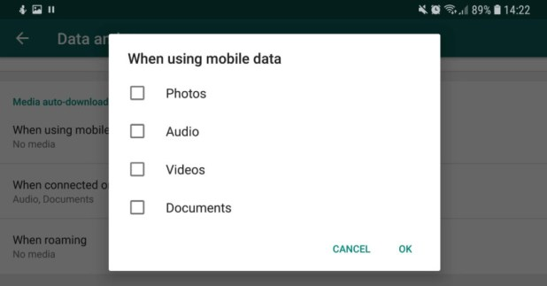 Mobile data settings for WhatsApp - whatsapp tricks