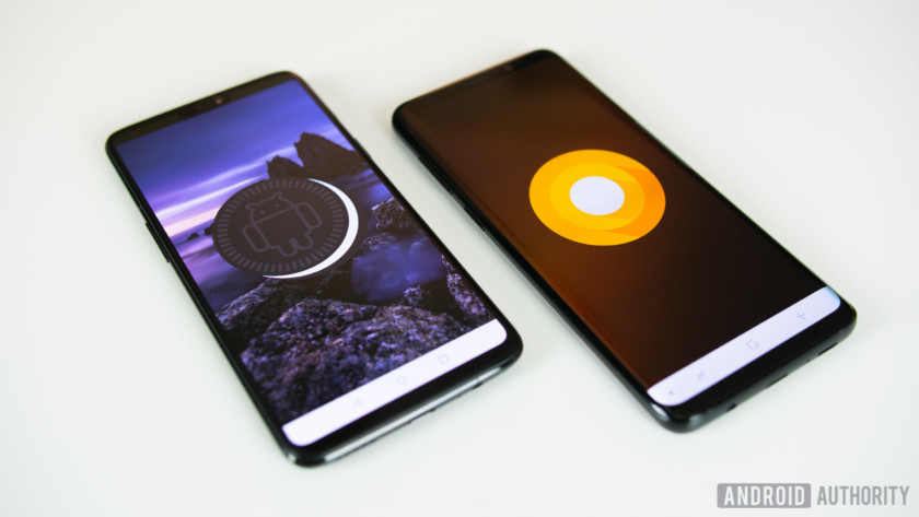 Galaxy S9 Plus software version is different from OnePlus 6