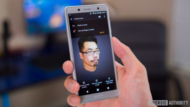 Sony Xperia XZ2 Compact camera features