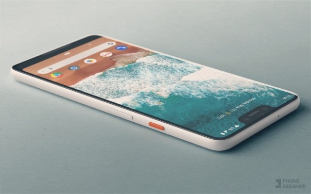 A render of the Google Pixel 3 based on recent Pixel 3 leaks and rumors