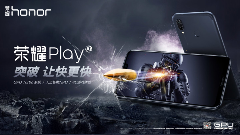 The Honor Play smartphone.