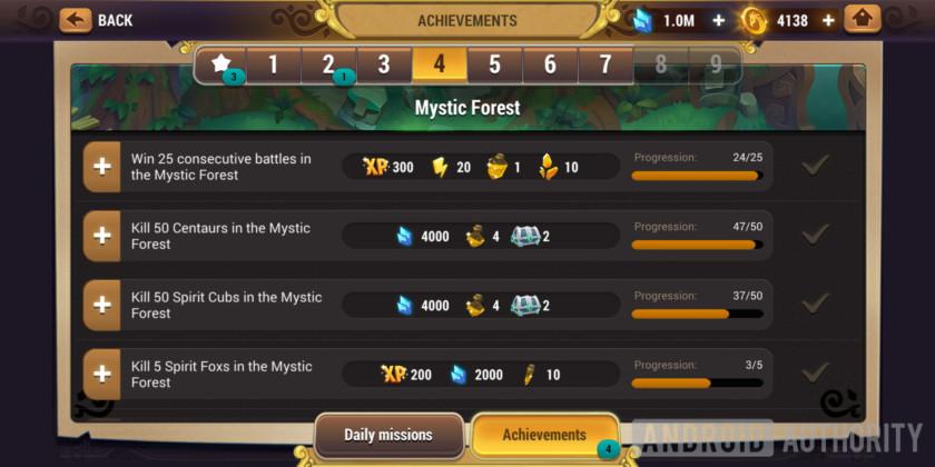 might & magic elemental guardians achievement screen