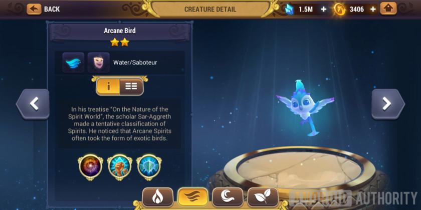 might & magic elemental guardians arcane water bird creature