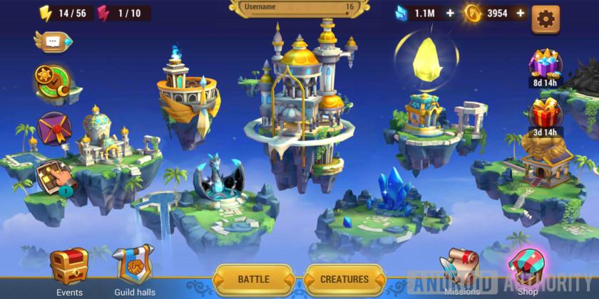 might & magic elemental guardians main menu screen