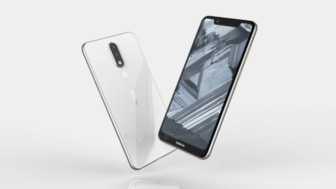 A claimed render of the Nokia 5.1 Plus