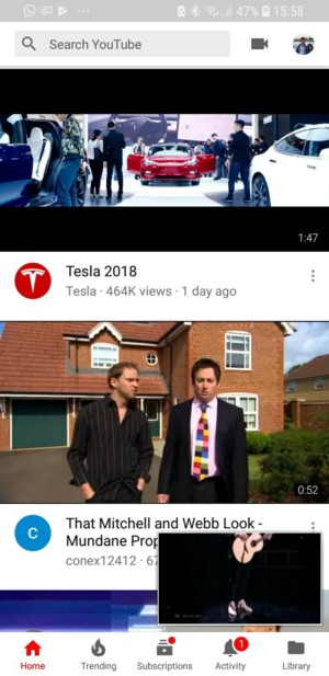 A screen shot of a potential YouTube update that could revamp the top bar.