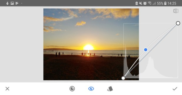 A screenshot, showing Snapseed.