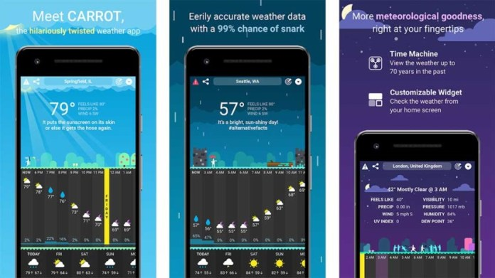 Carrot Weather is one of the best weather apps