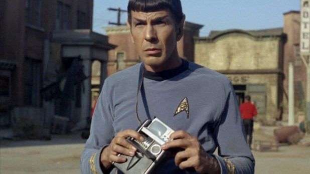Mr Spock with tricorder in Star Trek