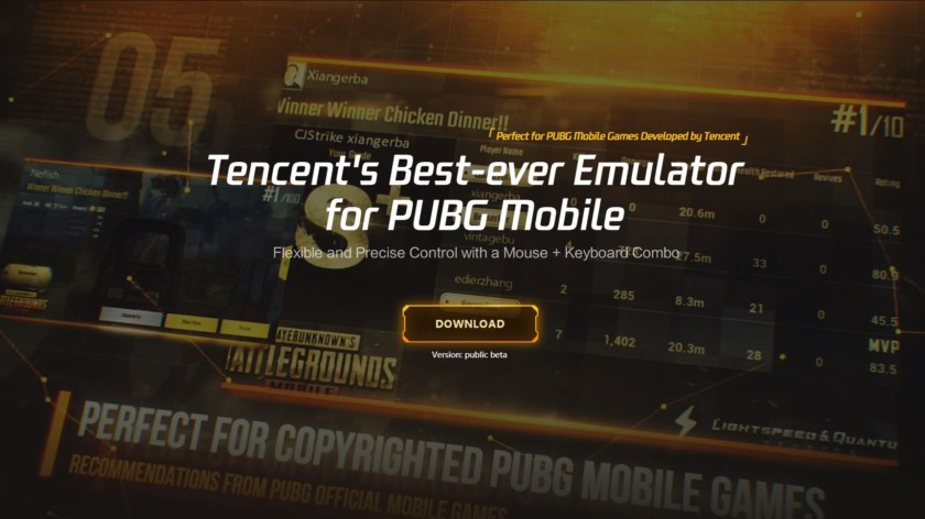 Tencent gaming buddy PUBG mobile website