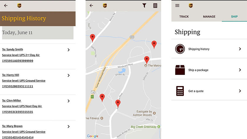 Traditional package delivery apps