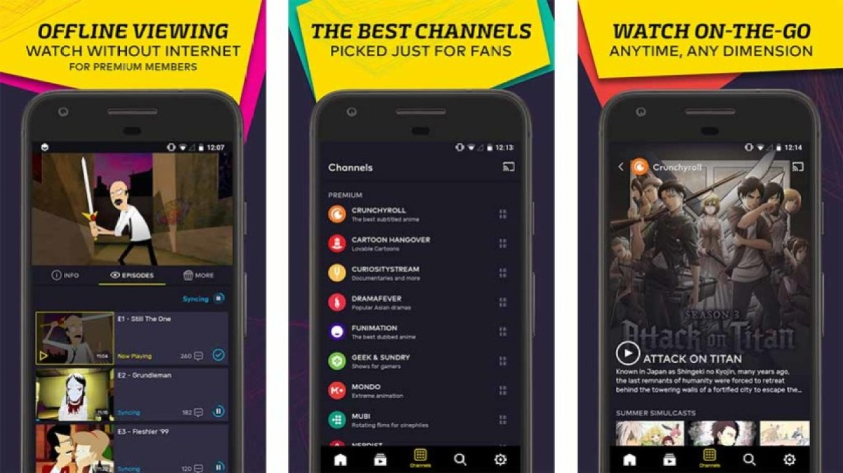 VRV is one of the best tv apps for android