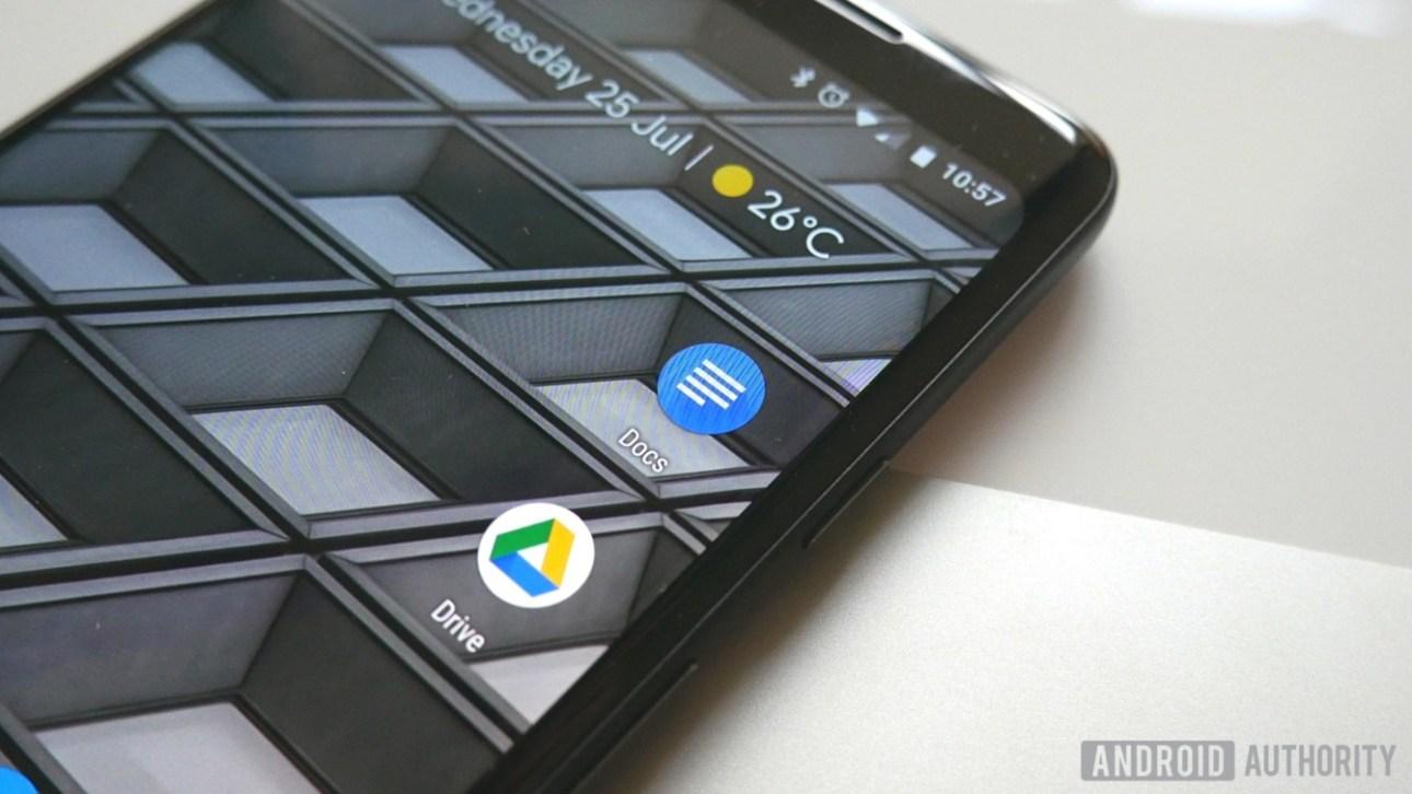 Документы Google управляют значками приложений Android на Google Pixel 2 XL