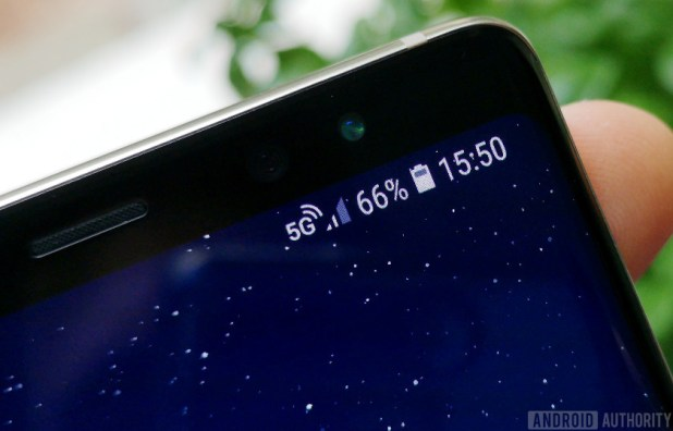 5G signal on Galaxy Note 8