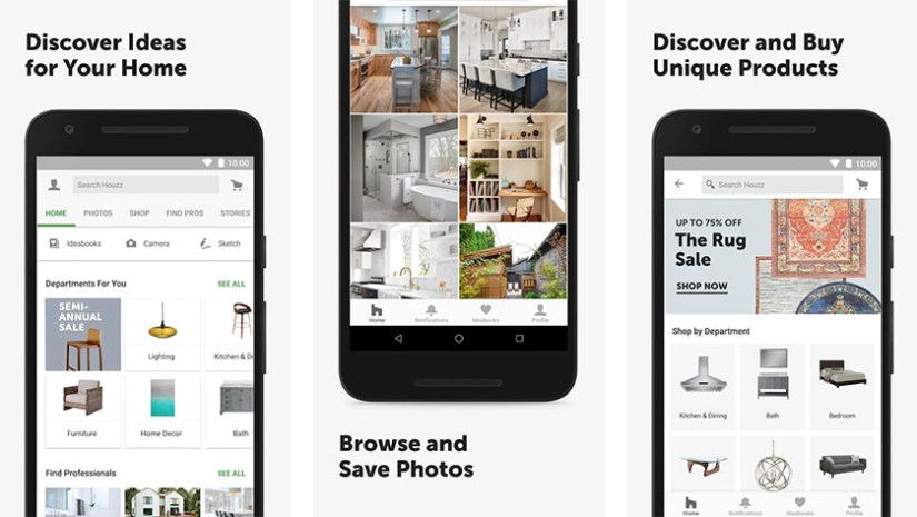 Houzz is one of the best kitchen design apps for android