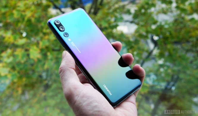 The Huawei P20 Pro in a new gradient color.