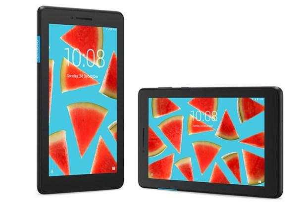 An official image of the Lenovo Tab E7.