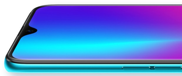 A closeup image of the front of the Oppo R17 Pro.