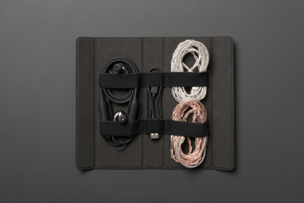 CL2 Planar: the headphones laid out with accessories in case.