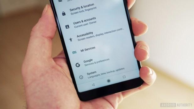 Xiaomi Mi A2 settings