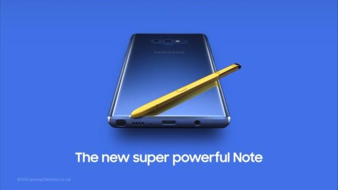 Samsung Galaxy Note 9 trailer screenshot.