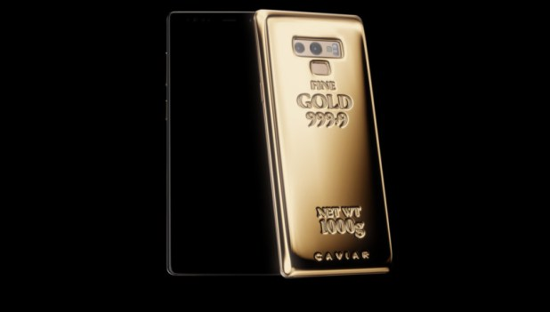 The Galaxy Note 9 Fine Gold Edition.