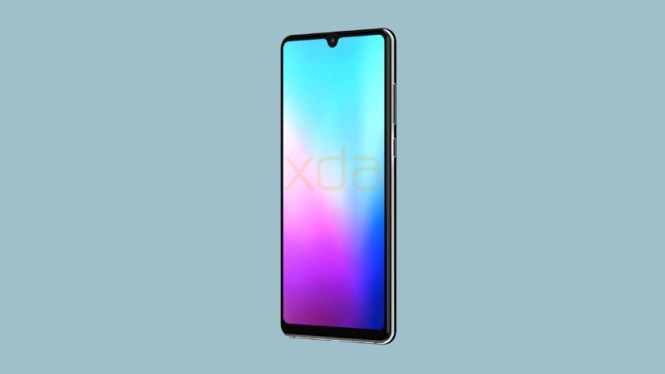 A leaked render of the Huawei Mate 20.
