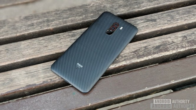 The back of the Pocophone F1 Armoured Edition.