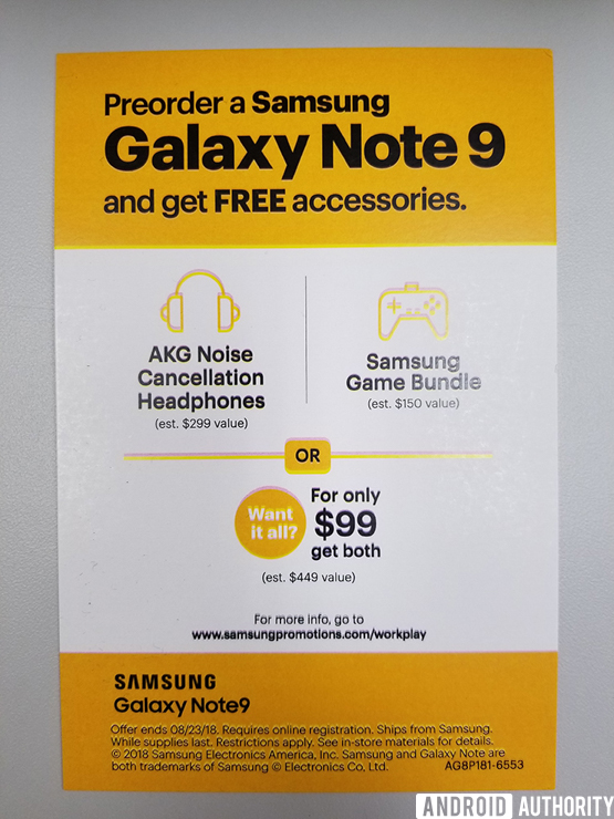 Sprint Samsung Galaxy Note 9 Leaked Promotion