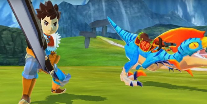 A screenshot of the mobile version of Monster Hunter Stories.