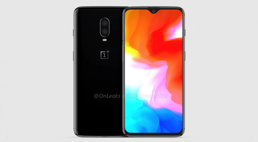 A leaked render of the OnePlus 6T.