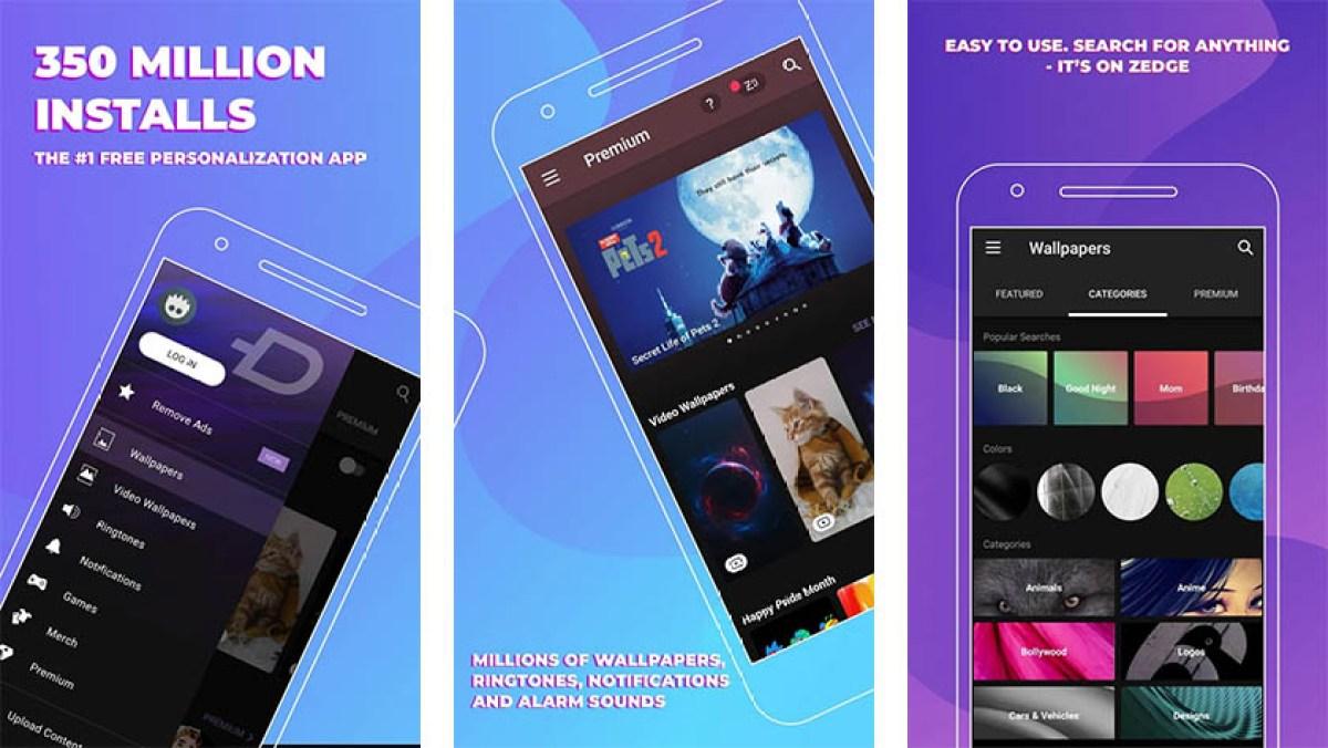 Zedge é um dos melhores aplicativos de ação de graças para Android 1