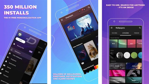 Zedge is one of the best free android apps for android