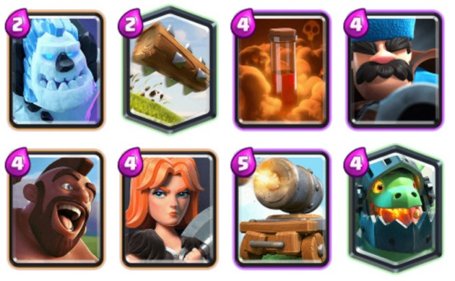 iAmJP Hog Cart Clash Royale deck