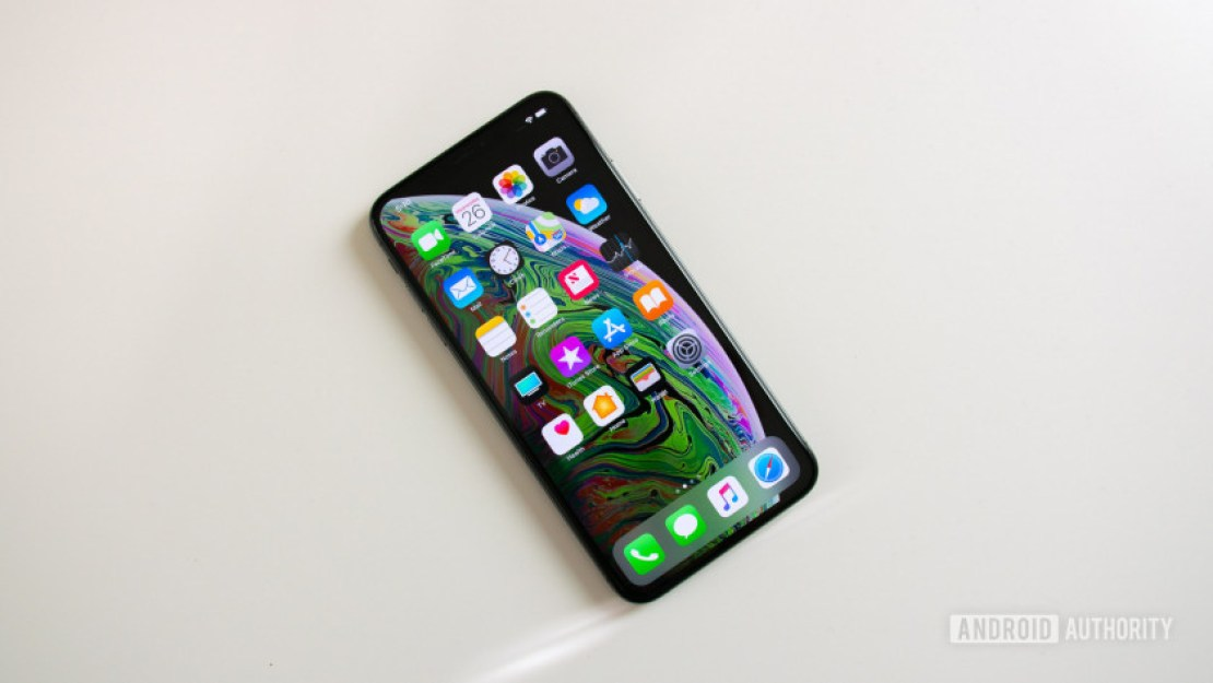 The front of the Apple iPhone XS Max.