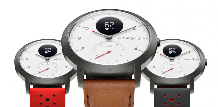 Promotional images of the Withings Steel HR Sport Smartwatch.